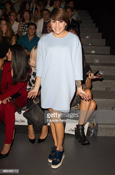 Actress Angy Fernandez is seen attending MercedesBenz Fashion Week Madrid Spring/Summer 2015/16 at Ifema on September 21 2015 in Madrid Spain