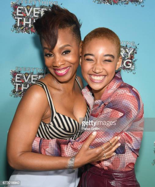 Actress Anika Noni Rose and actress Amandla Stenberg attend 'Everything Everything' Screening and Brunch at W Hotel Atlanta Midtown on April 23 2017...