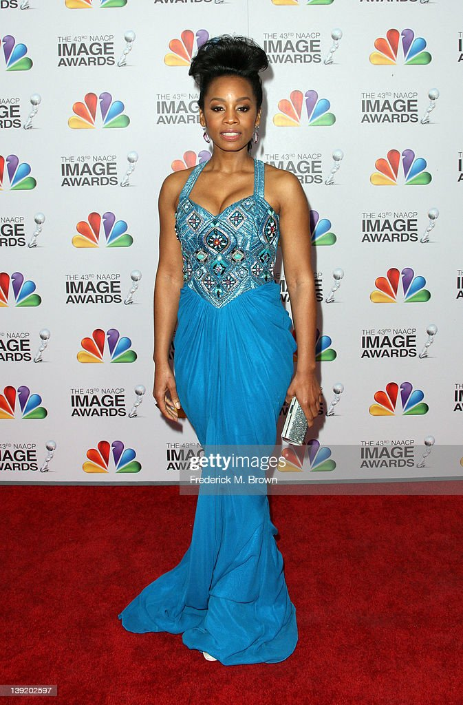 Actress Anika Noni Rose arrives at the 43rd NAACP Image Awards held at The Shrine Auditorium on February 17, 2012 in Los Angeles, California.