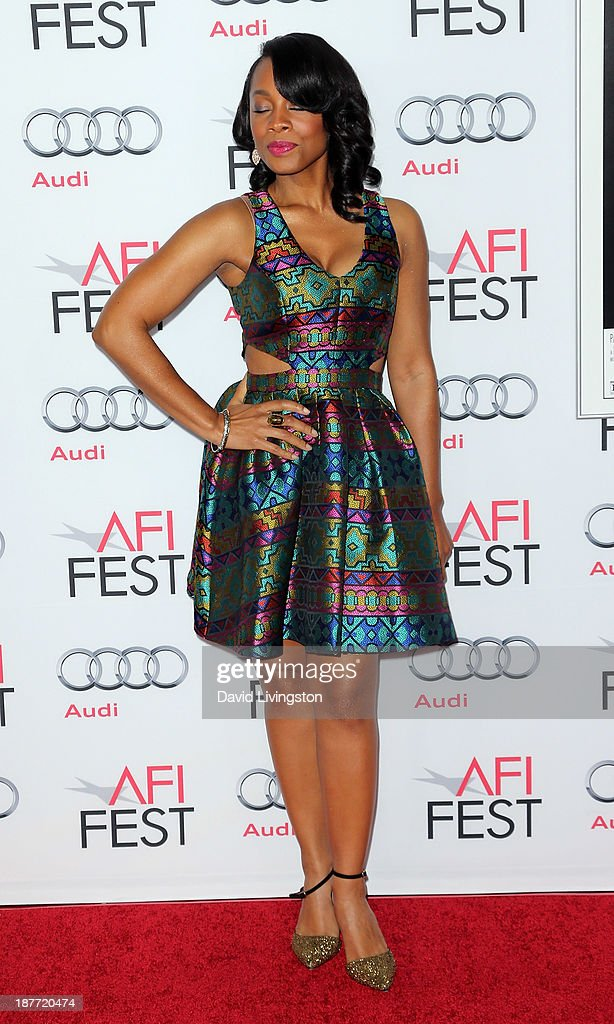 Actress <a gi-track='captionPersonalityLinkClicked' href=/galleries/search?phrase=Anika+Noni+Rose&family=editorial&specificpeople=227294 ng-click='$event.stopPropagation()'>Anika Noni Rose</a> attends the AFI FEST 2013 presented by Audi photo call for 'Half of a Yellow Sun' and 'Juvenile Offender' at the TCL Chinese Theatre on November 11, 2013 in Hollywood, California.