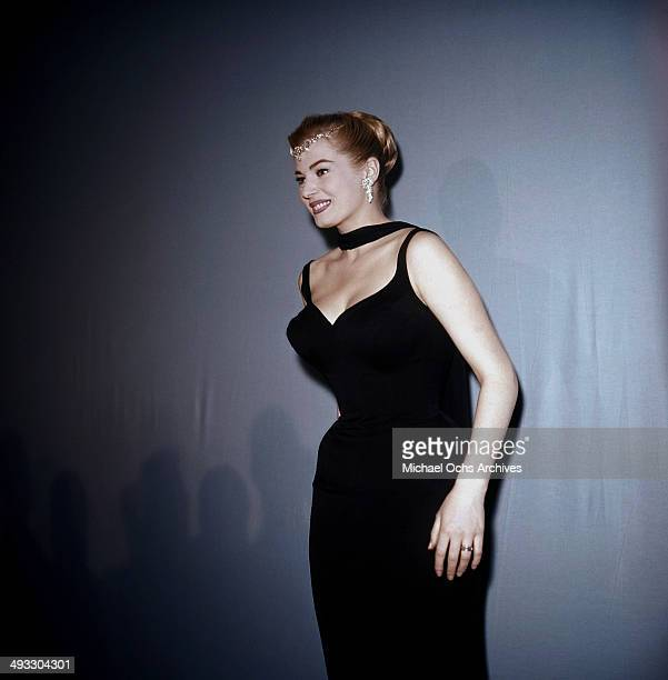 Actress Anita Ekberg attends a party in Los Angeles California