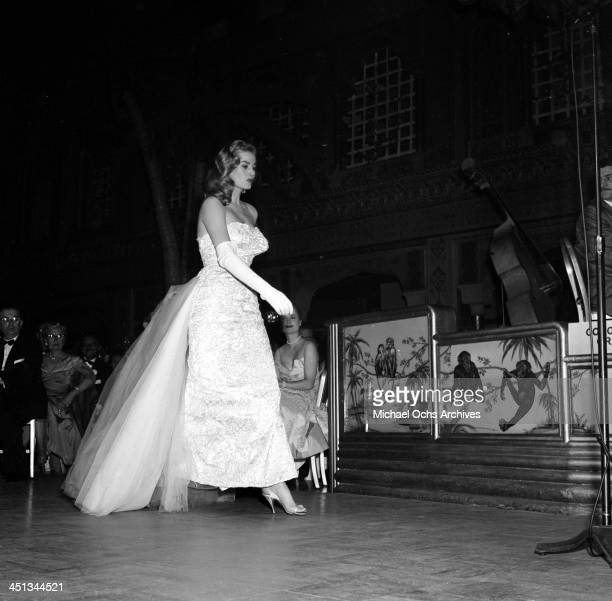 Actress Anita Ekberg during the Foreign Press Awards at the The Cocoanut Grove in Los Angeles California