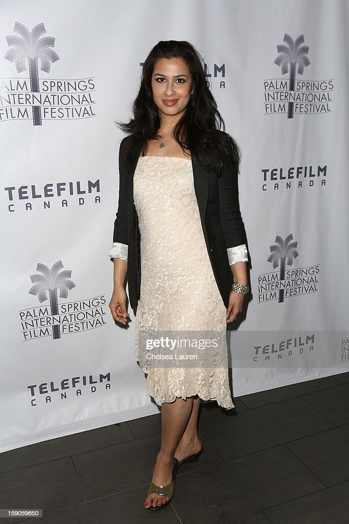 Actress Anita Majumdar arrives at the Canadian film party at the 24th annual Palm Springs International Film Festival on January 6, 2013 in Palm Springs, California.