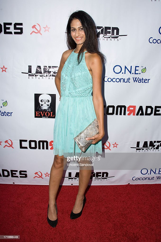 Actress Anita Vora attends the Los Angeles premiere of 'Comrades' on June 27, 2013 in Los Angeles, California.