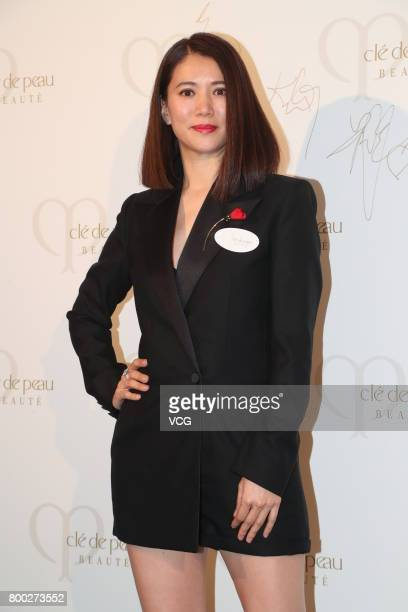 Actress Anita Yuen attends Cle De Peau Beaute banquet on June 23 2017 in Hong Kong China