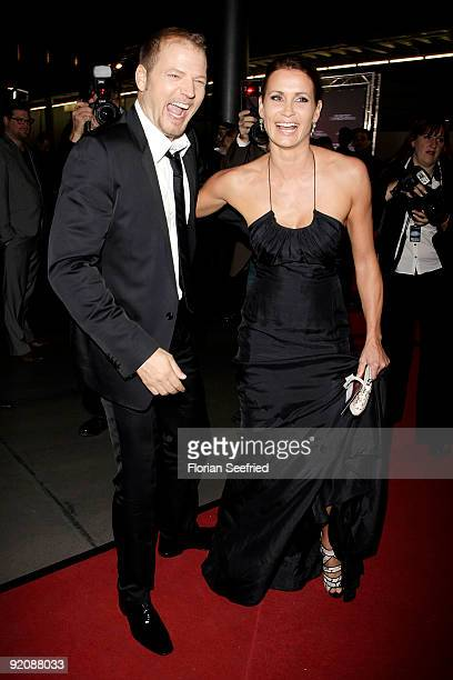 Actress Anja Kling and Mario Barth attend the German Comedy Award 2009 at the Coloneum on October 20 2009 in Cologne Germany