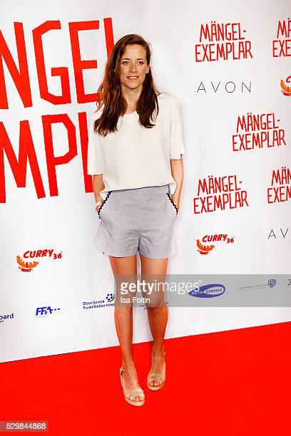 Actress Anja Knauer attend sthe German premiere of the film 'Maengelexemplar' at Cinestar Kulturbrauerei on May 9 2016 in Berlin Germany