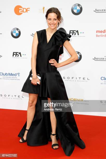 Actress Anja Knauer attends the Lola German Film Award red carpet at Messe Berlin on April 28 2017 in Berlin Germany