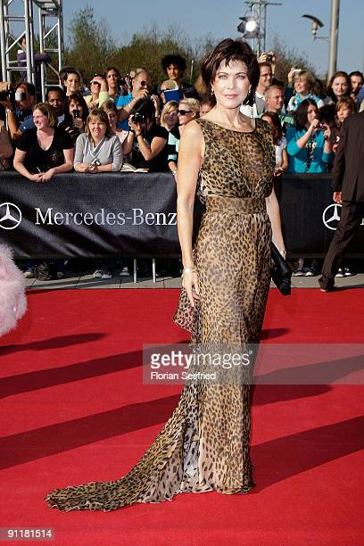 Actress Anja Kruse arrives for the German TV Award 2009 at the Coloneum on September 26 2009 in Cologne Germany