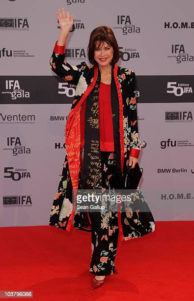 Actress Anja Kruse attends the IFA Opening Ceremony at the Palais am Funkturm on September 2 2010 in Berlin Germany
