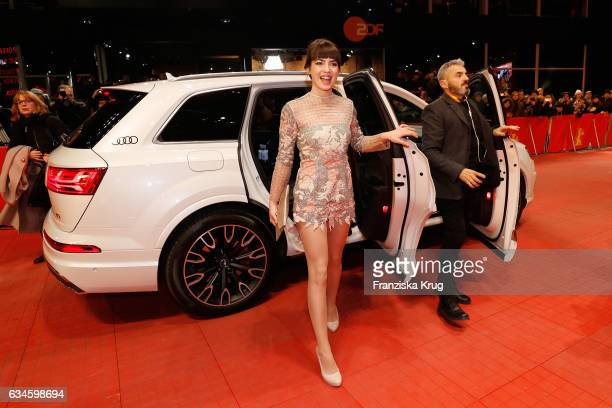 Actress Anjela Nedyalkova arrives at the 'T2 Trainspotting' premiere during the 67th Berlinale International Film Festival Berlin at Berlinale Palace...
