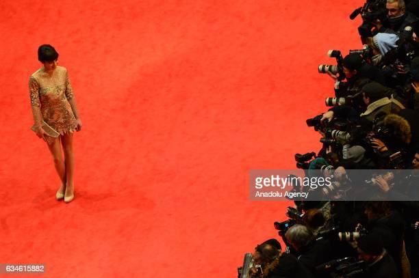 Actress Anjela Nedyalkova attends the red carpet of 'T2 Trainspotting' during the 67th Berlinale International Film Festival at Grand Hyatt Hotel in...