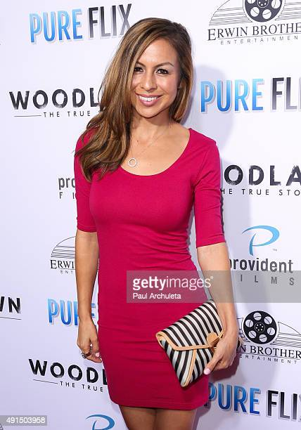 Actress Anjelah Johnson attends the LA premiere of Pure Flix's 'Woodlawn' at The Regency Bruin Theater on October 5 2015 in Westwood California