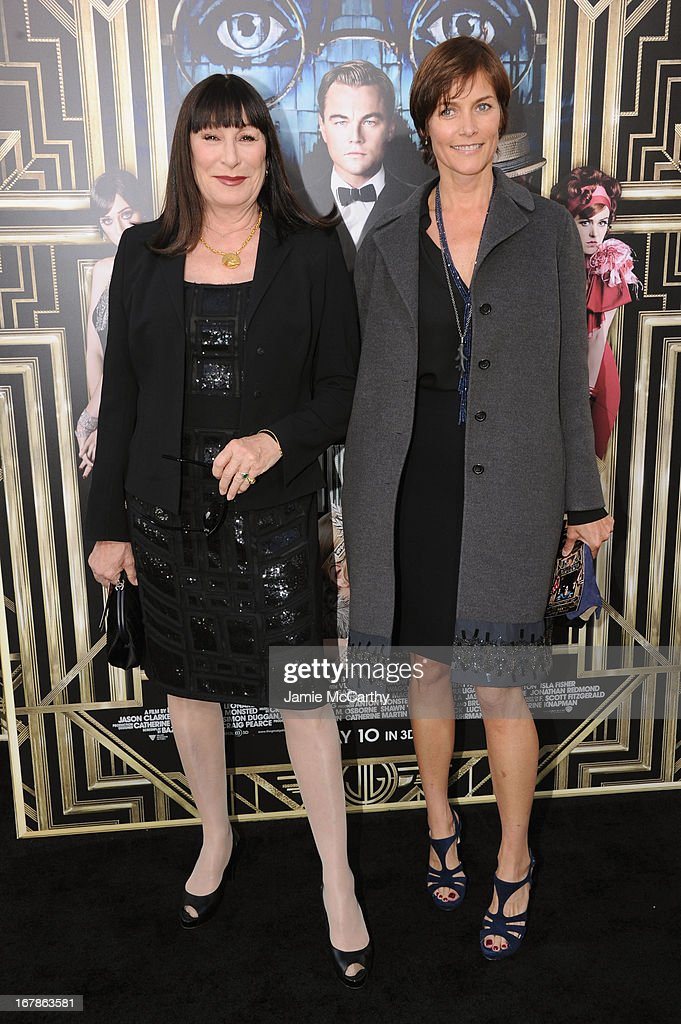 Actress <a gi-track='captionPersonalityLinkClicked' href=/galleries/search?phrase=Anjelica+Huston&family=editorial&specificpeople=202921 ng-click='$event.stopPropagation()'>Anjelica Huston</a> and actress Carrie Lowell attend the 'The Great Gatsby' world premiere at Avery Fisher Hall at Lincoln Center for the Performing Arts on May 1, 2013 in New York City.