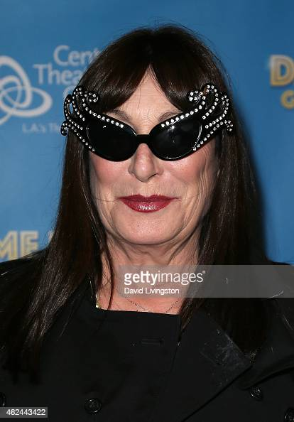 Actress Anjelica Huston attends Dame Edna's 'Glorious Goodbye The Farewell Tour' opening night at the Ahmanson Theatre on January 28 2015 in Los...