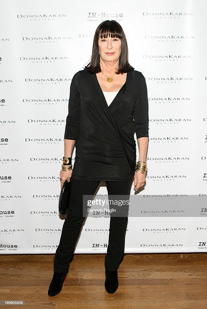 Actress Anjelica Huston attends 'Haven't We Met Before?' New York Premiere at 711 Greenwich Street on February 3, 2013 in New York City.