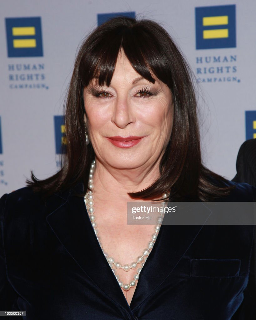 Actress <a gi-track='captionPersonalityLinkClicked' href=/galleries/search?phrase=Anjelica+Huston&family=editorial&specificpeople=202921 ng-click='$event.stopPropagation()'>Anjelica Huston</a> attends The 2013 Greater New York Human Rights Campaign Gala at The Waldorf=Astoria on February 2, 2013 in New York City.