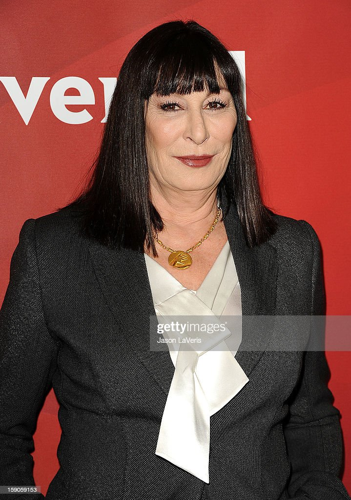 Actress Anjelica Huston attends the 2013 NBC TCA Winter Press Tour at The Langham Huntington Hotel and Spa on January 6, 2013 in Pasadena, California.