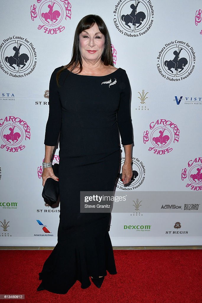 Actress Anjelica Huston attends the 2016 Carousel Of Hope Ball at The Beverly Hilton Hotel on October 8, 2016 in Beverly Hills, California.