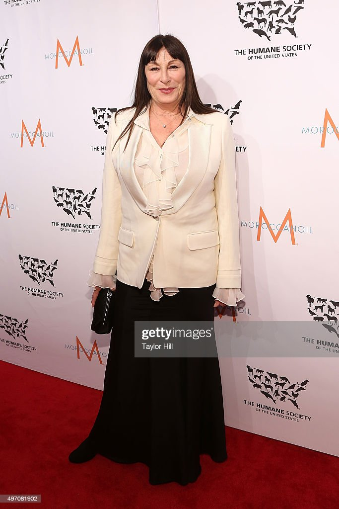 Actress Anjelica Huston attends The Humane Society Gala at Cipriani 42nd Street on November 13, 2015 in New York City.