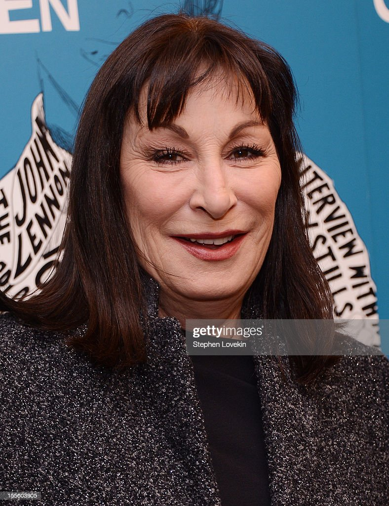 Actress Anjelica Huston attends the 'Inventing David Geffen' New York Premiere at Paris Theater on November 5, 2012 in New York City.