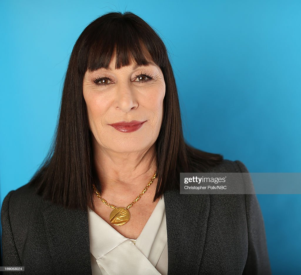 Actress Anjelica Huston attends the NBCUniversal 2013 TCA Winter Press Tour at The Langham Huntington Hotel and Spa on January 6, 2013 in Pasadena, California.