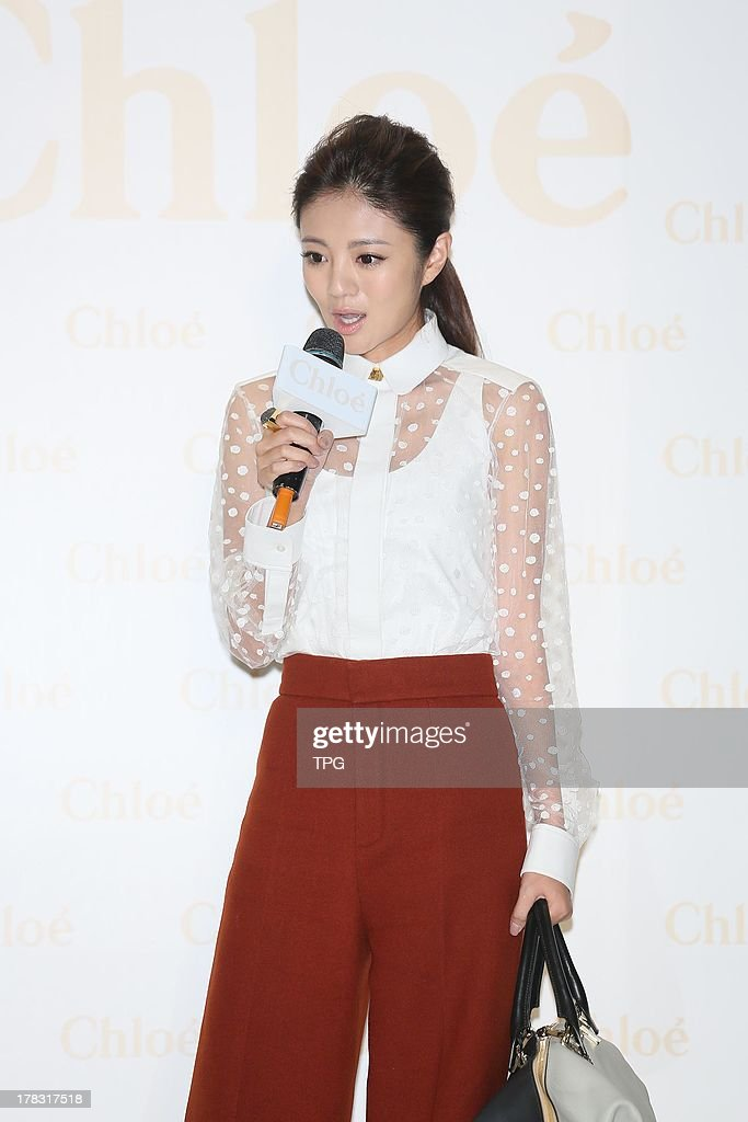 Actress Ann attends a promotion activity on Wednesday August 28,2013 in Taipei,China.