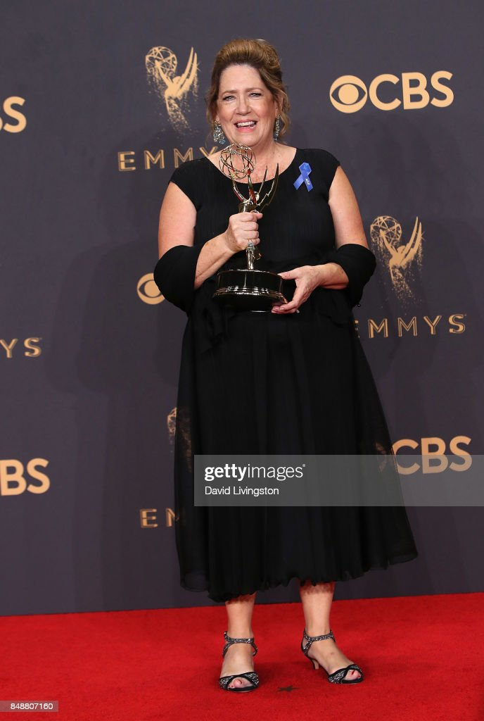Actress Ann Dowd, winner of the award for Outstanding Supporting Actress in a Drama Series for 'The Handmaid's Tale,' poses in the press room during the 69th Annual Primetime Emmy Awards at Microsoft Theater on September 17, 2017 in Los Angeles, California.