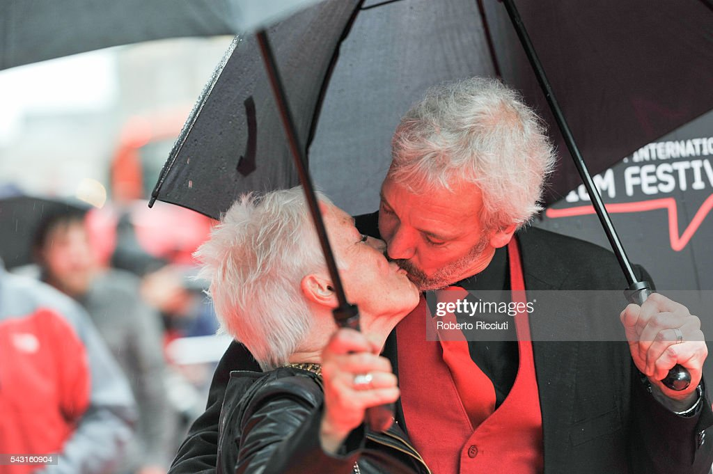 Actress Ann Louise Ross and Nils den Hertog attend the EIFF Closing Night Gala and World Premiere of 'Whisky Galore!' during the 70th Edinburgh International Film Festival at Festival Theatre on June 26, 2016 in Edinburgh, United Kingdom.