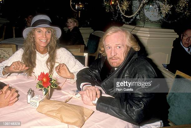 Actress Ann Turkel and Actor Richard Harris on December 10 1988 dinging at The Palm Court at The Plaza Hote in New York City New York