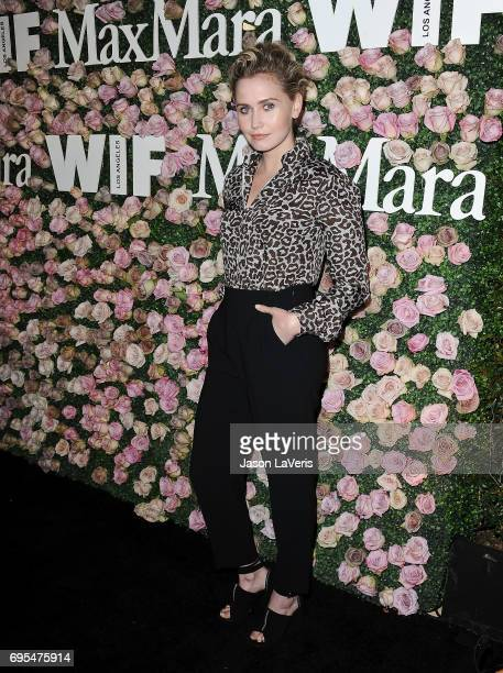 Actress Anna Bamford attends Max Mara and Vanity Fair's celebration of Women In Film's Face of the Future Award recipient Zoey Deutch at Chateau...