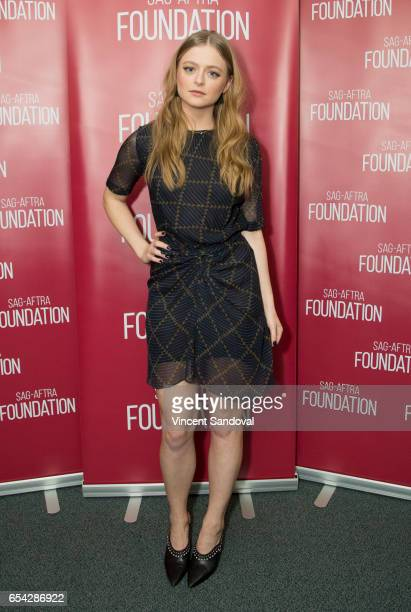 Actress Anna Baryshnikov attends SAGAFTRA Foundation's Conversations with 'Superior Donuts' at SAGAFTRA Foundation Screening Room on March 16 2017 in...