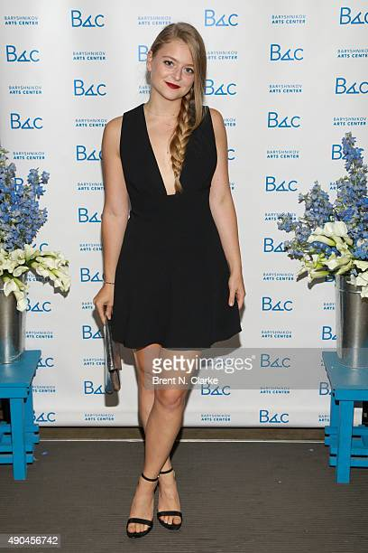 Actress Anna Baryshnikov attends the Baryshnikov Arts Center 10th Anniversary Fall Fete held at the Baryshnikov Art Center on September 28 2015 in...