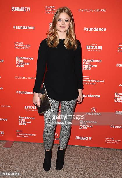 Actress Anna Baryshnikov attends the 'Manchester By The Sea' Premiere during the 2016 Sundance Film Festival at Eccles Center Theatre on January 23...