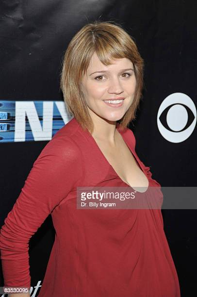 Actress Anna Belknap arrives as 'CSI NY' celebrates its 100th episode on November 1 2008 at the Edison in Los Angeles California