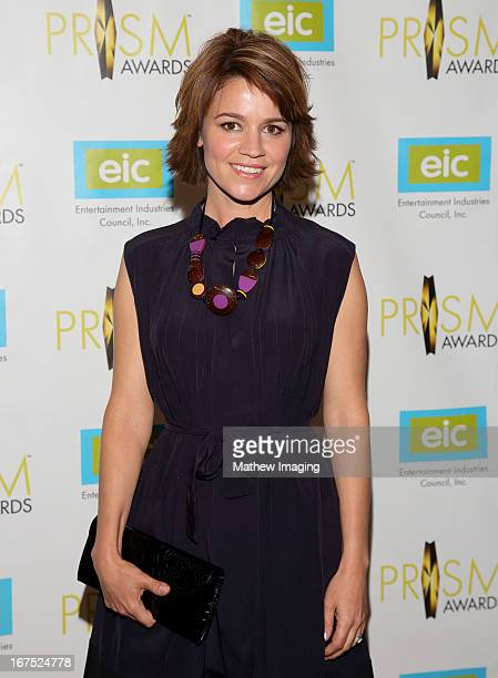 Actress Anna Belknap arrives at the 17th Annual PRISM Awards at the Beverly Hills Hotel on April 25 2013 in Beverly Hills California