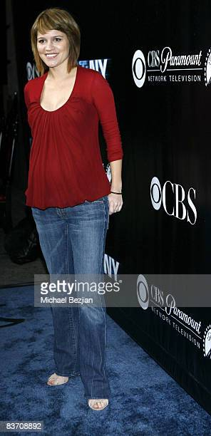 Actress Anna Belknap arrives at the 'CSI NY' celebration of their 100th Episode at The Edison November 1 2008 in Los Angeles California