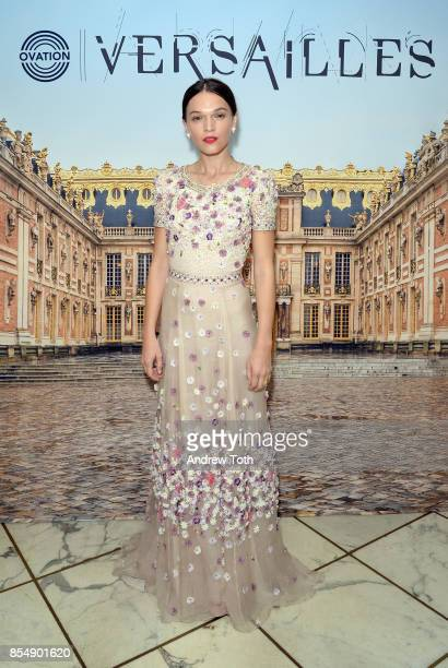 Actress Anna Brewster attends as Ovation TV celebrates the US launch of Versailles Season Two at The French Embassy on September 27 2017 in New York...