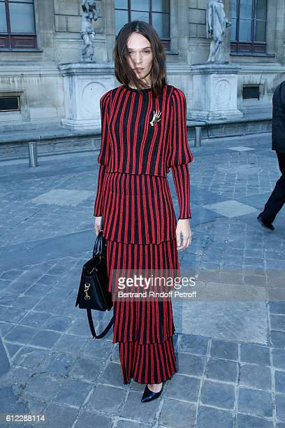 Actress Anna Brewster attends the Sonia Rykiel show as part of the Paris Fashion Week Womenswear Spring/Summer 2017 on October 3 2016 in Paris France