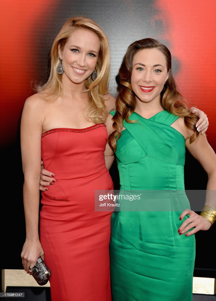 Actress Anna Camp (L) and Bonnie Kathleen Ryan attend HBO's 'True Blood' season 6 premiere at ArcLight Cinemas Cinerama Dome on June 11, 2013 in Hollywood, California.