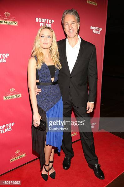 Actress Anna Camp and Writer/Director Angus MacLachlan attend the 'Goodbye To All That' New York Screening at Highline Ballroom on December 8 2014 in...