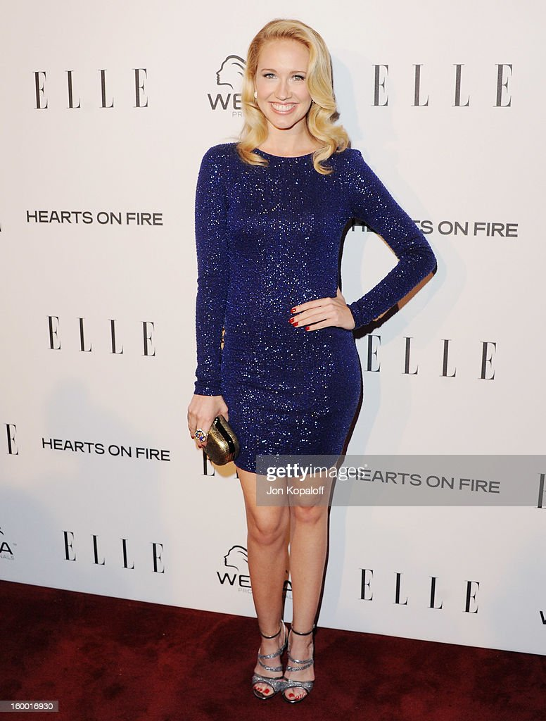 Actress Anna Camp arrives at ELLE's 2nd Annual Women In TV Event at Soho House on January 24, 2013 in West Hollywood, California.