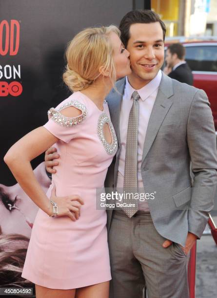 Actress Anna Camp arrives at HBO's 'True Blood' final season premiere at TCL Chinese Theatre on June 17 2014 in Hollywood California
