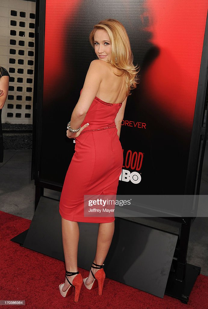 Actress Anna Camp arrives at HBO's 'True Blood' season 6 premiere at ArcLight Cinemas Cinerama Dome on June 11, 2013 in Hollywood, California.