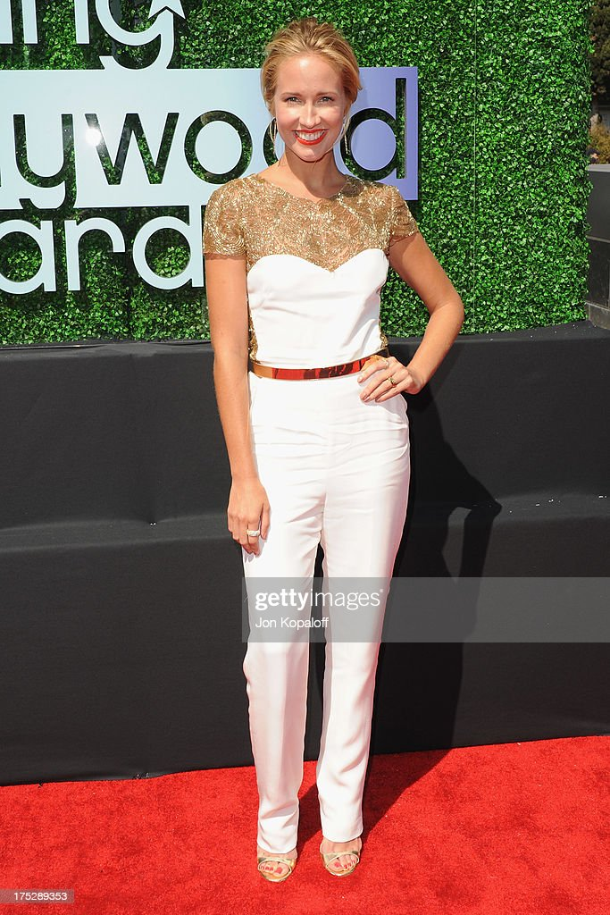 Actress <a gi-track='captionPersonalityLinkClicked' href=/galleries/search?phrase=Anna+Camp&family=editorial&specificpeople=3144642 ng-click='$event.stopPropagation()'>Anna Camp</a> arrives at the 15th Annual Young Hollywood Awards at The Broad Stage on August 1, 2013 in Santa Monica, California.