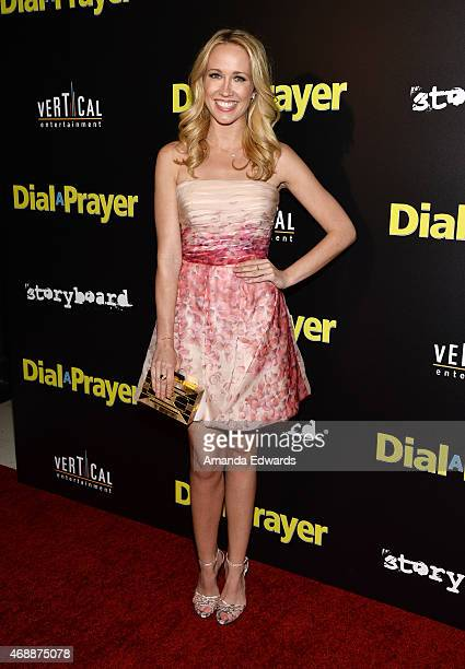 Actress Anna Camp arrives at the Los Angeles premiere of 'Dial A Prayer' at the Landmark Theater on April 7 2015 in Los Angeles California