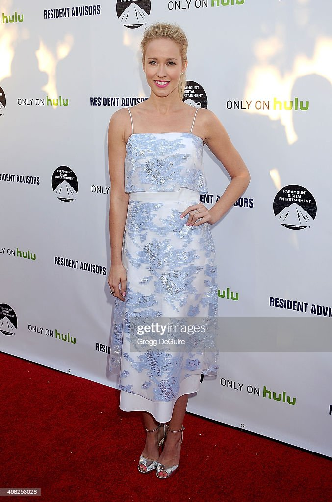 Actress Anna Camp arrives at the Los Angeles premiere of Hulu's 'Resident Advisors' at Sherry Lansing Theatre at Paramount Studios on March 31 2015...