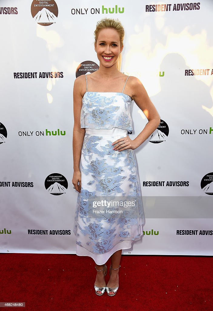 Actress Anna Camp arrives at the Premiere Of Paramount and Hulu's 'Resident Advisors' at Sherry Lansing Theatre at Paramount Studios on March 31 2015...