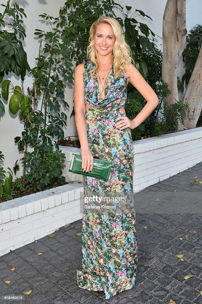 Actress Anna Camp at the CFDA/Vogue Fashion Fund Show and Tea presented by kate spade new york at Chateau Marmont on October 26, 2016 in Los Angeles, California.