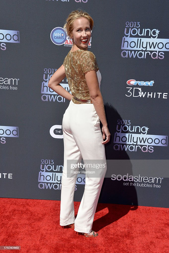 Actress Anna Camp attends CW Network's 2013 Young Hollywood Awards presented by Crest 3D White and SodaStream held at The Broad Stage on August 1, 2013 in Santa Monica, California.